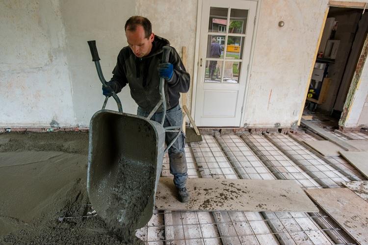 cementdekvloer plaatsen